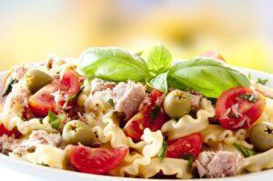 salade-pates-thon-creme-fraiche