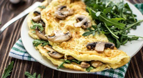 omelette-champignons