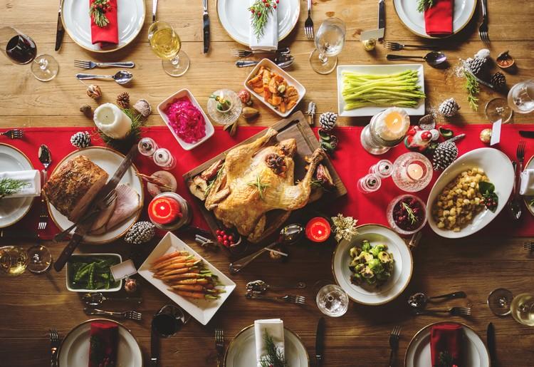 Repas de Noël traditionnel français