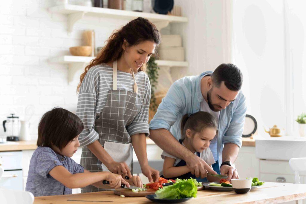 Cuisiner des légumes en famille