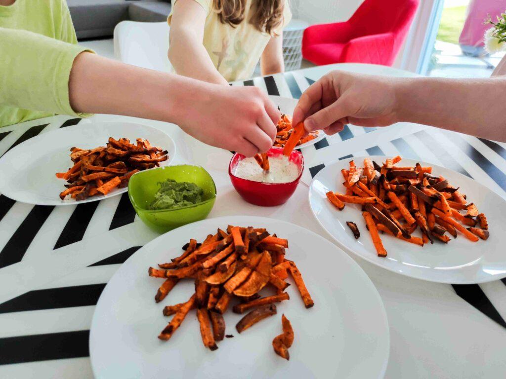 frites à la patate douce pour enfant
